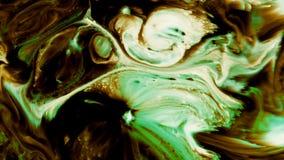 La pintura mágica mística de la tinta del extracto estalla la extensión almacen de video