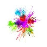 La pintura moderna - fondo abstracto de la acuarela - salpica, cae en el papel o la lona, vector Fotografía de archivo libre de regalías