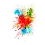 La pintura moderna - fondo abstracto de la acuarela - salpica, cae en el papel o la lona, vector Foto de archivo libre de regalías
