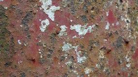 La pintura no puede evitar que el hierro sea corroído foto de archivo