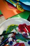 La pintura puede comenzar Imagen de archivo libre de regalías