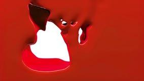 La pintura roja llena la pantalla, aislada en HD LLENO blanco del canal alfa libre illustration