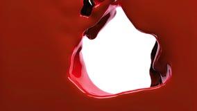 La pintura roja llena la pantalla, aislada en HD LLENO blanco del canal alfa stock de ilustración