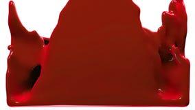 La pintura roja llena la pantalla, aislada en HD LLENO blanco del canal alfa ilustración del vector
