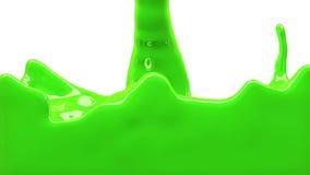La pintura verde llena la pantalla, aislada en HD LLENO blanco del canal alfa stock de ilustración