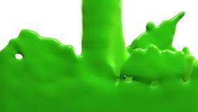 La pintura verde llena la pantalla, aislada en HD LLENO blanco del canal alfa libre illustration