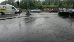 La pioggia Belgrado può via 2019 immagini stock