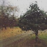 La pioggia dichiara le cose un poco immagine stock
