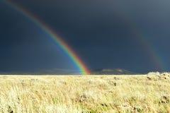 La pioggia resta pricipalmente sull'alto Plians Fotografia Stock