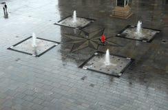 La pioggia in un'atmosfera indicativa fotografia stock