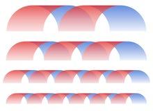 La piqûre/brin abstraits forme dans différentes longueurs illustration de vecteur