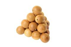 La pirámide de bolas de madera Imágenes de archivo libres de regalías