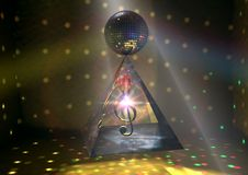 La pirámide de la música foto de archivo