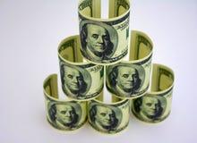 La piramide dei dollari Immagine Stock