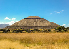 La piramide del sole fotografie stock libere da diritti