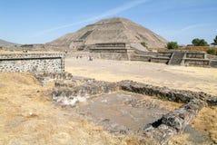 La piramide del sole all'en Messico di Teotihuacan Fotografia Stock Libera da Diritti