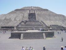La piramide del Sun a Teotihuacan Fotografie Stock Libere da Diritti