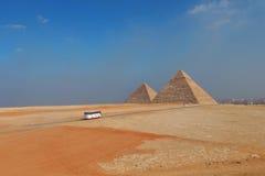La piramide dell'Egitto Fotografia Stock