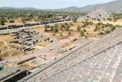 La piramide della luna all'en Messico di Teotihuacan Immagini Stock