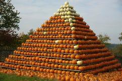 La piramide della zucca Fotografia Stock