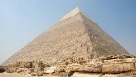 La piramide di Khafre Fotografia Stock