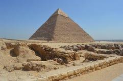 La piramide di Khafre immagini stock libere da diritti