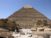 La piramide di Khephren (Khafre) Fotografie Stock Libere da Diritti