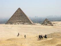 La piramide di Menkaure Immagine Stock