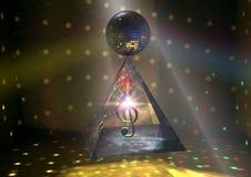 La piramide di musica fotografia stock