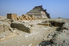La piramide di punto a Saqqara fotografia stock libera da diritti