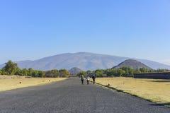La piramide famosa del Sun e della luna Immagine Stock