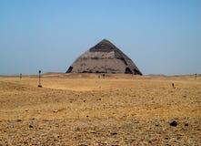 La piramide piegata di Dashur, Egitto Immagine Stock Libera da Diritti