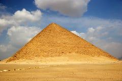 La piramide rossa di Dahshur nell'Egitto Fotografia Stock Libera da Diritti