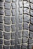 La pisada vieja del neumático Foto de archivo