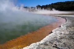 La piscina de Champán, Wai o Tapu, Rotorua, imagenes de archivo