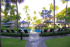 La piscina dell'hotel Fotografie Stock