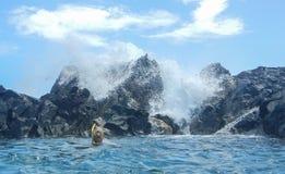La piscina natural Imagen de archivo libre de regalías