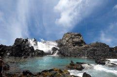 La piscina natural en Aruba Imágenes de archivo libres de regalías