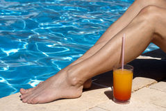 La piscina se relaja Foto de archivo libre de regalías