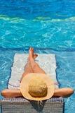 La piscina si distende Fotografia Stock