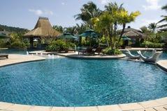 La piscine, le monde frais et frais est en Chine, îles de Davao. Image libre de droits