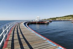 La piscine swmming à déchenchements périodiques dans la baie de Corio, Geelong Image stock