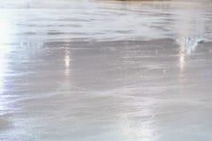 La pista del hockey hace frente apagado Imagenes de archivo