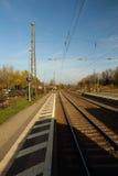 La pista del treno in Germania Fotografia Stock