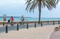 La pista della bici avanti può Pastilla Immagine Stock