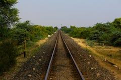 La pista ferroviaria Foto de archivo libre de regalías