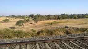 La pista ferroviaria de la India imagen de archivo libre de regalías