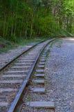 La pista ferroviaria vieja Imagenes de archivo