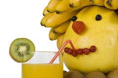 La pista humana de la fruta. Imagen de archivo libre de regalías