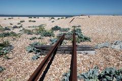 La piste clôture la plage Photographie stock libre de droits
